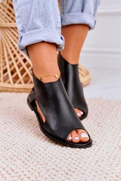 Dámske ploché sandále farba čierna kód obuvi 2622/001 BLACK