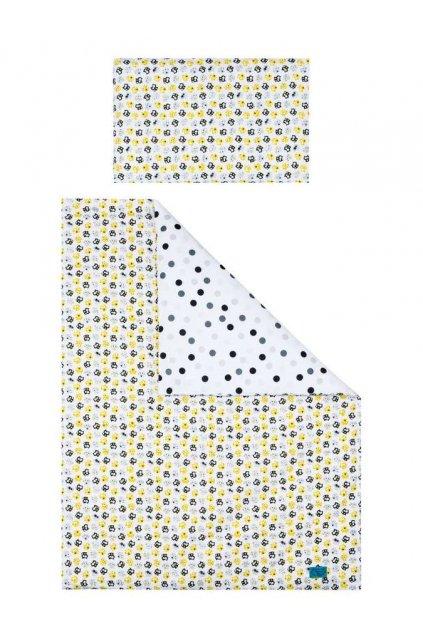 6-dielne posteľné obliečky Belisima Mačiatka 100/135 žlté