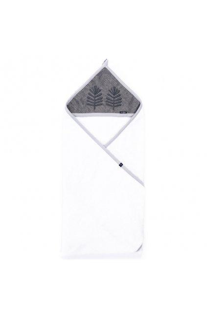 Detská bavlnená osuška Womar 100x100 sivá