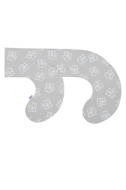 Obliečka na dojčiaci vankúš v tvare C New Baby Medvedíkovia sivý