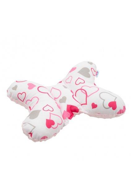 Stabilizačný vankúšik New Baby ružové srdiečka