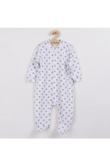 Dojčenský overal New Baby Classic II sivý s hviezdičkami