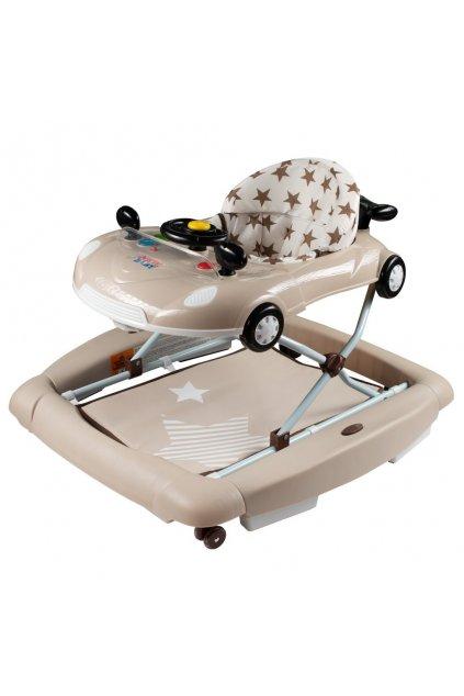 Detské chodítko s hojdačkou a siikónovými kolieskami New Baby Little Racing Car