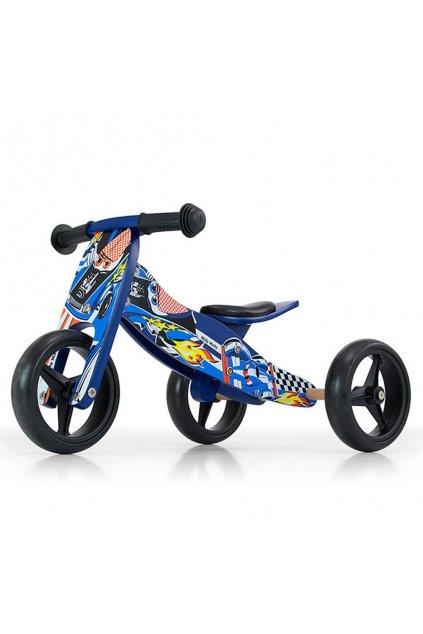 Detské multifunkčné odrážadlo bicykel 2v1 Milly Mally JAKE blue