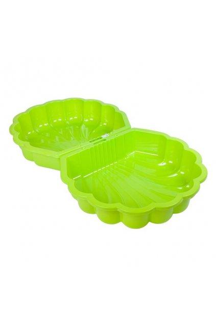 Pieskovisko-bazénik Mušle - 2 ks svetlo zelené