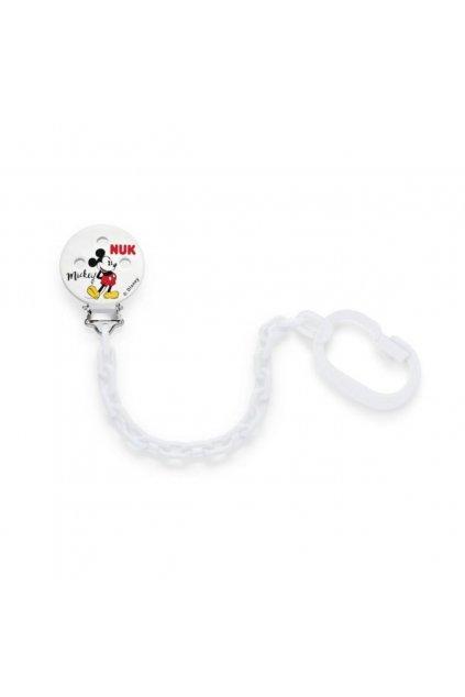Retiazka na cumlík NUK Disney Mickey biela