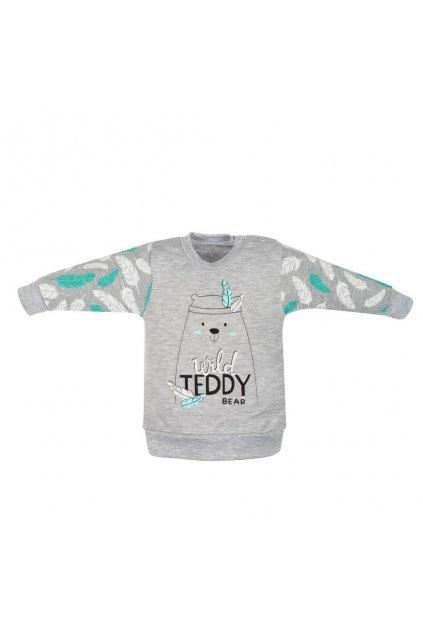 Dojčenská bavlnená mikinka New Baby Wild Teddy