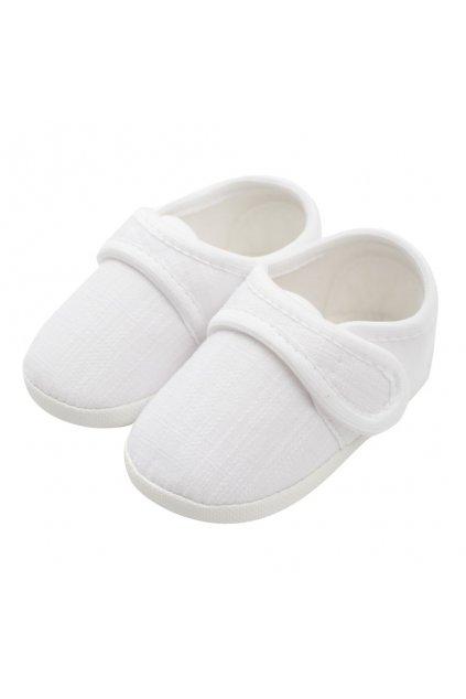 Dojčenské capačky New Baby Linen biele 0-3 m