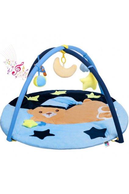 Hracia deka s melódiou PlayTo spaci medvedík modrá