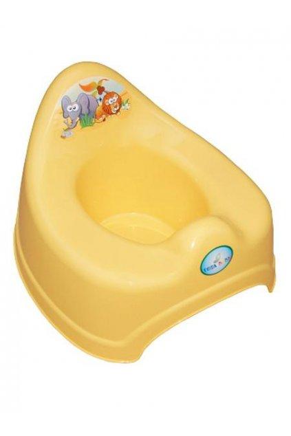 Hrajúci detský nočník safari žltý