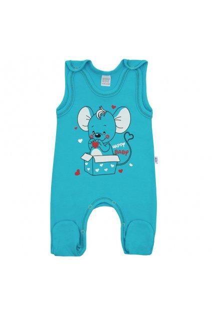 Dojčenské dupačky New Baby Mouse tyrkysové