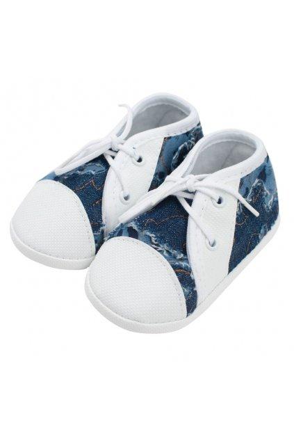 Dojčenské capačky tenisky New Baby modré 0-3 m