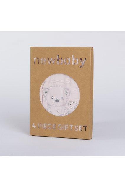 Dojčenská súprava do pôrodnice New Baby Sweet Bear ružová