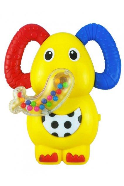 Detská hrkálka so zvukom Baby Mix sloník