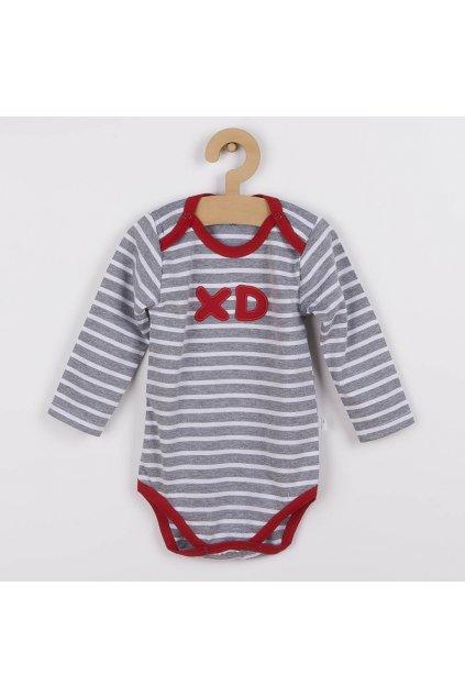 3-dielna bavlnená dojčenská súprava Koala XD červená