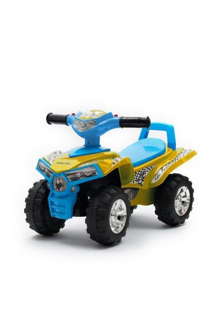 Detské odrážadlo so zvukom Štvorkolka Baby Mix yellow/blue