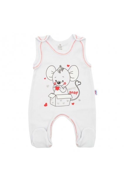 Dojčenské dupačky New Baby Mouse biele