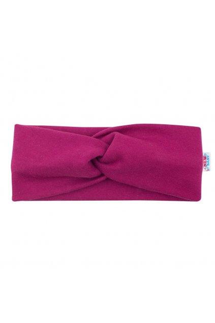 Dojčenská čelenka New Baby Style tmavo fialová 37 cm
