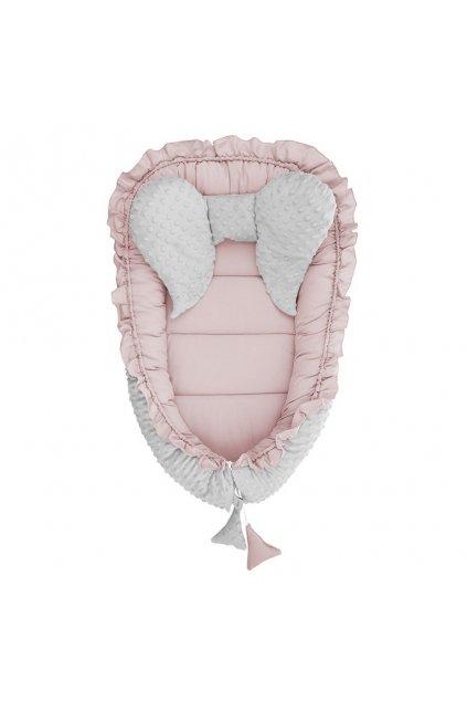 Hniezdočko pre bábätko Minky Belisima Mouse ružové