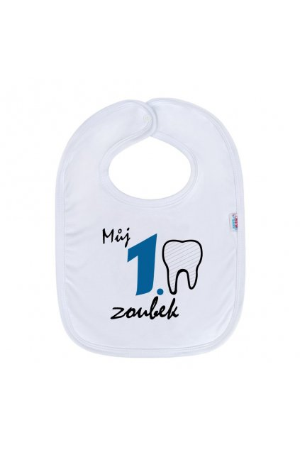 Detský podbradník New Baby Můj 1 zoubek modrá