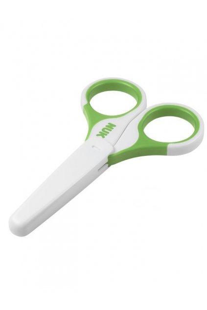 Detské zdravotné nožnice s krytom NUK zelené