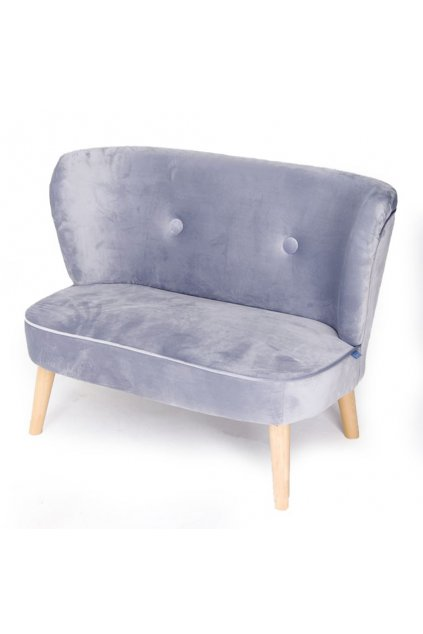 Detská Retro pohovka sofa Drewex sivá