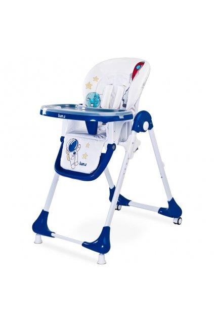 Jedálenská stolička CARETERO Luna navy