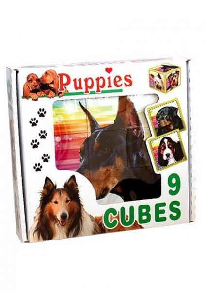 Skladacie obrázkové kocky Puppies