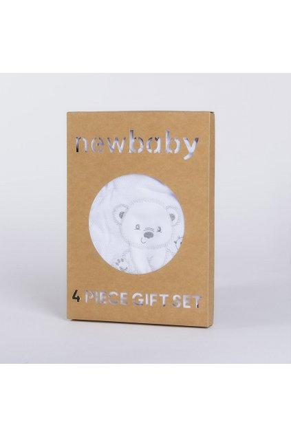 Dojčenská súprava do pôrodnice New Baby Sweet Bear biela