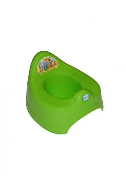 Hrajúci detský nočník safari zelený