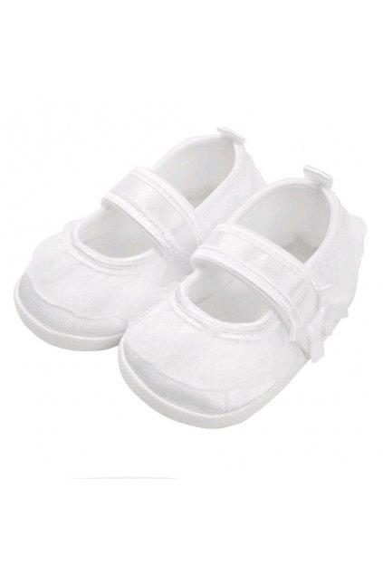 Dojčenské capačky New Baby saténové biele 6-12 m
