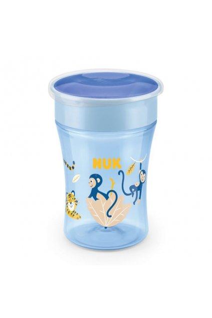 Detský hrnček Magic NUK 360 ° s viečkom blue