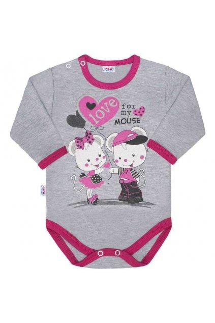 Detské body s dlhým rukávom New Baby Love Mouse