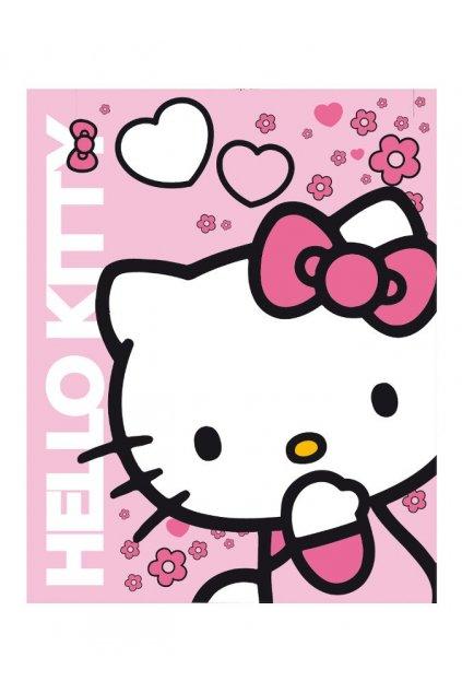 Detská obojstranná auto deka Hello Kitty 120x150 cm