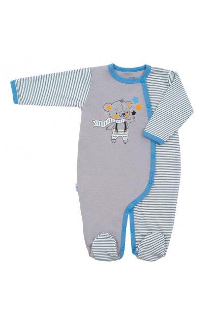 Dojčenský bavlnený overal New Baby Lucky Bear