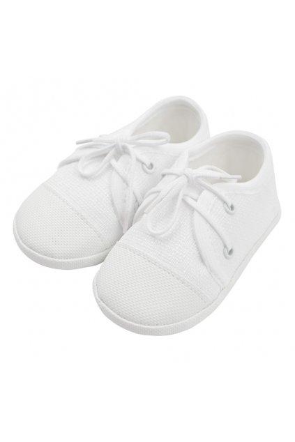 Dojčenské capačky tenisky New Baby biele 0-3 m
