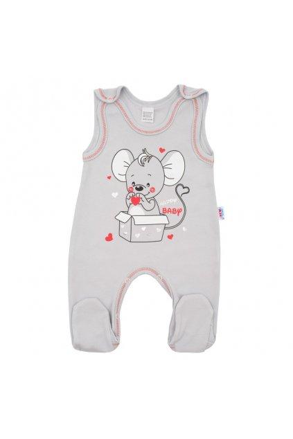 Dojčenské dupačky New Baby Mouse sivé