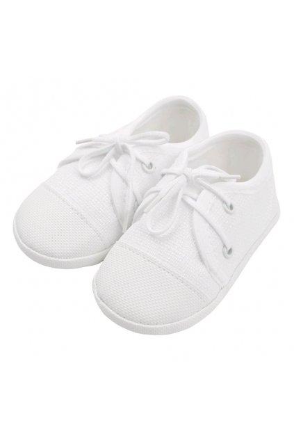 Dojčenské capačky tenisky New Baby biele 12-18 m