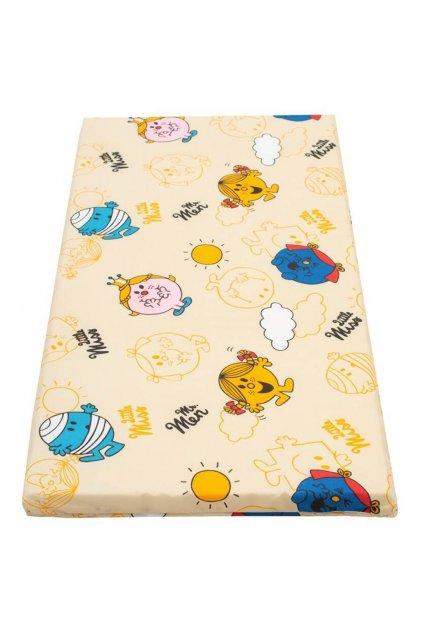 Detský penový matrac New Baby 120x60 oranžový - rôzne obrázky
