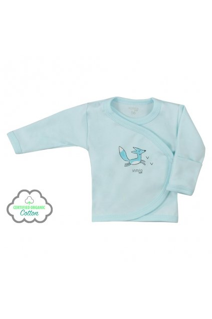 Dojčenská košieľka z organickej bavlny Koala Lesný Priateľ modrá