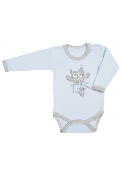 Dojčenské body New Baby Owl modré