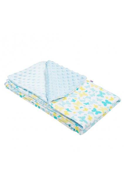 Detská deka z Minky New Baby modrá 80x102 cm