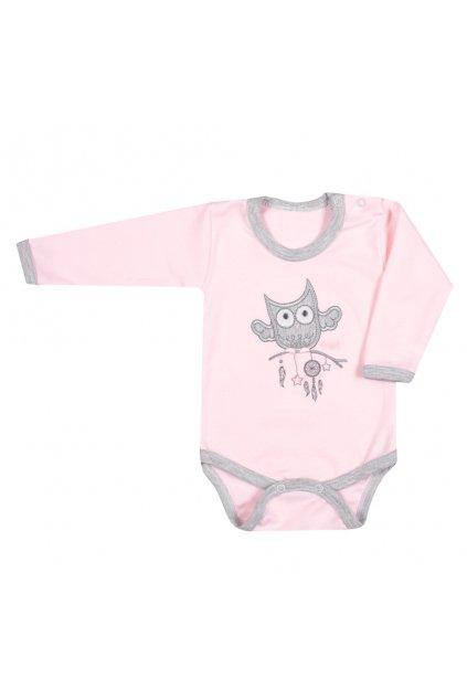 Dojčenské body New Baby Owl ružové