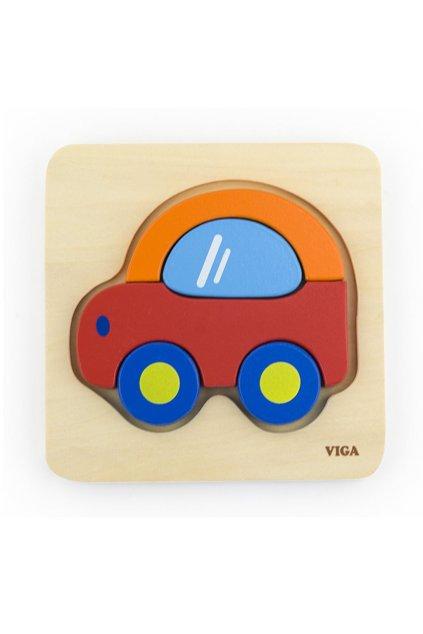 Drevené puzzle pre najmenších Viga Auto