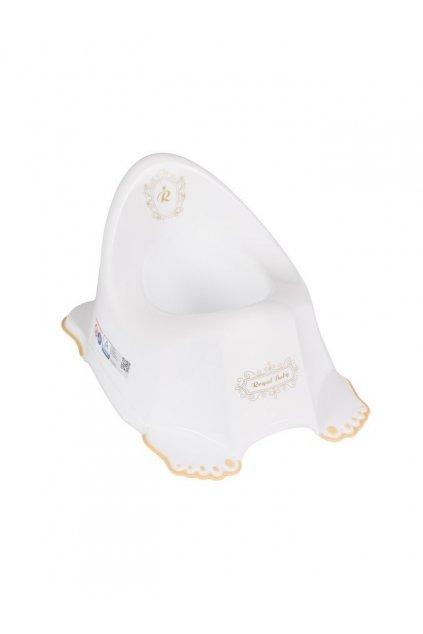 Hrajúci detský nočník protišmykový Royal biely