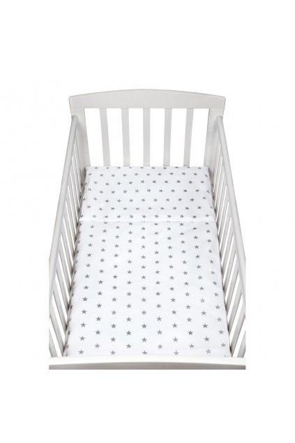 2-dielne posteľné obliečky New Baby 90/120 cm sivé hviezdičky