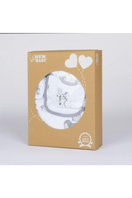 14-dielna luxusná dojčenská súprava New Baby Little Mouse v EKO krabičke