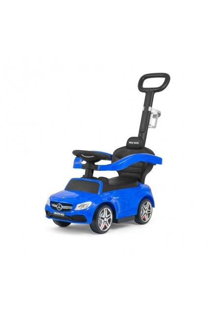 Detské odrážadlo s vodiacou tyčou Mercedes Benz AMG C63 Coupe Milly Mally blue