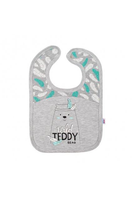 Dojčenský bavlnený podbradník New Baby Wild Teddy