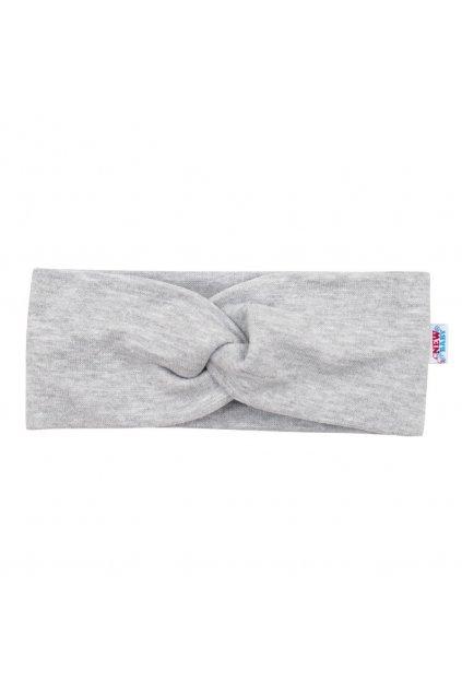 Dojčenská čelenka New Baby Style sivá 40,5 cm